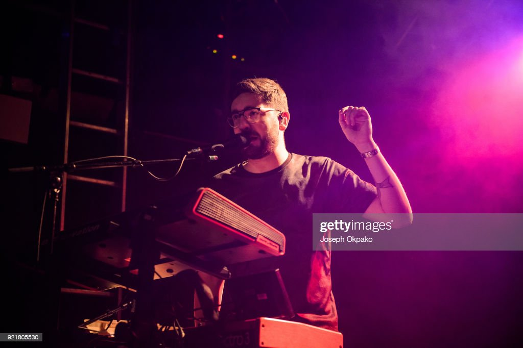 Gus Unger-Hamilton of alt-J performs at The Garage on February 20, 2018 in London, England.