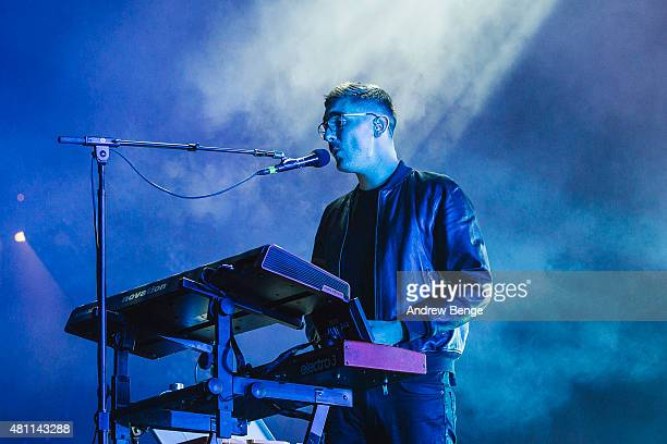 Gus UngerHamilton of AltJ performs on the main stage at Latitude Festival on July 17 2015 in Southwold United Kingdom