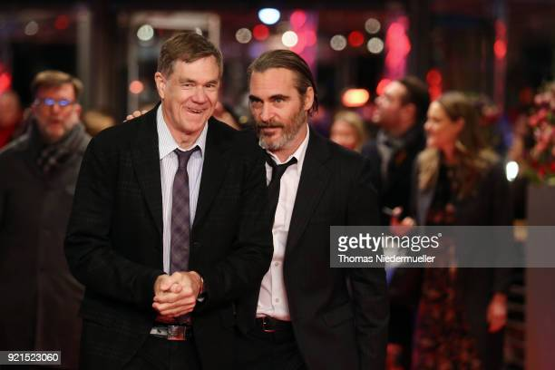 Gus Van Sant and Joaquin Phoenix attend the 'Don't Worry He Won't Get Far on Foot' premiere during the 68th Berlinale International Film Festival...