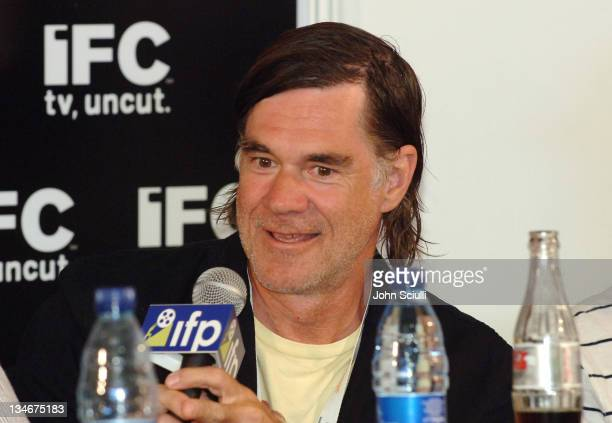 Gus Van Sant during IFP's 16th Annual American Directors in Cannes Press Conference with Roger Ebert at IFC Tent in Cannes France