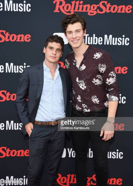 Gus Wenner and Shawn Mendes attend The Rolling Stone Relaunch on July 26 2018 in New York City