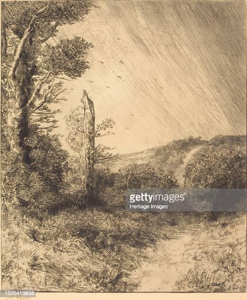 Gust of Wind . Artist Alphonse Legros.