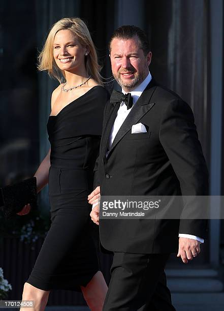 Gustaf Magnuson and Vicky Andren attends a private dinner on the eve of the wedding of Princess Madeleine and Christopher O'Neill hosted by King Carl...