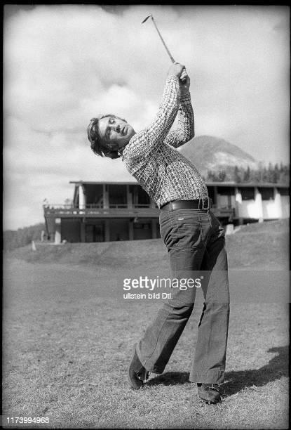 Gustav Bubi Scholz playing golfGustav Bubi Scholz playing golf 1972