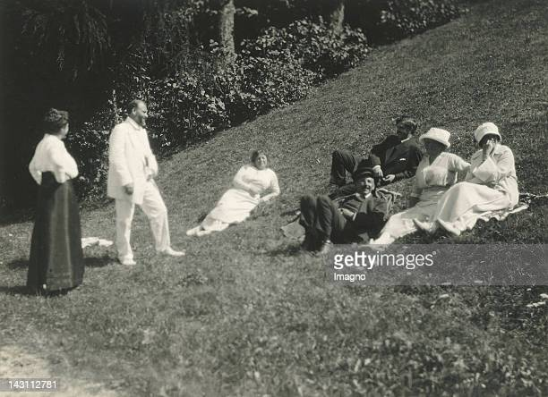 Gustav Klimt and friends in Weissenbach am Attersee Photograph 1916