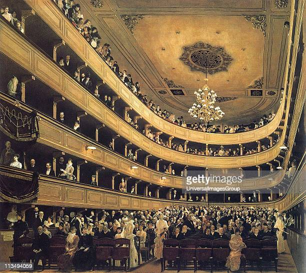 Gustav Klimt Auditorium in the Old Burgtheater in Vienna 1888