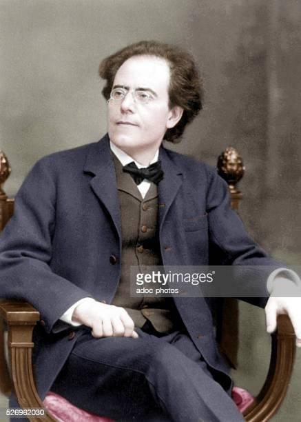 Gustav Mahler Austrian composer Ca 1909 Coloured photograph