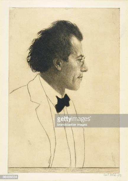 Gustav Mahler Etching by Emil Orlik 1903 [Gustav Mahler Radierung von Emil Orlik 1903]