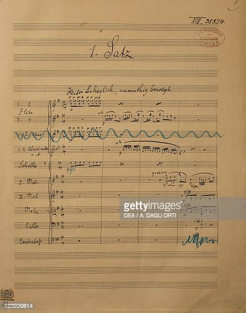 Gustav Mahler Symphony No 4 in G major 18991900 Autograph score