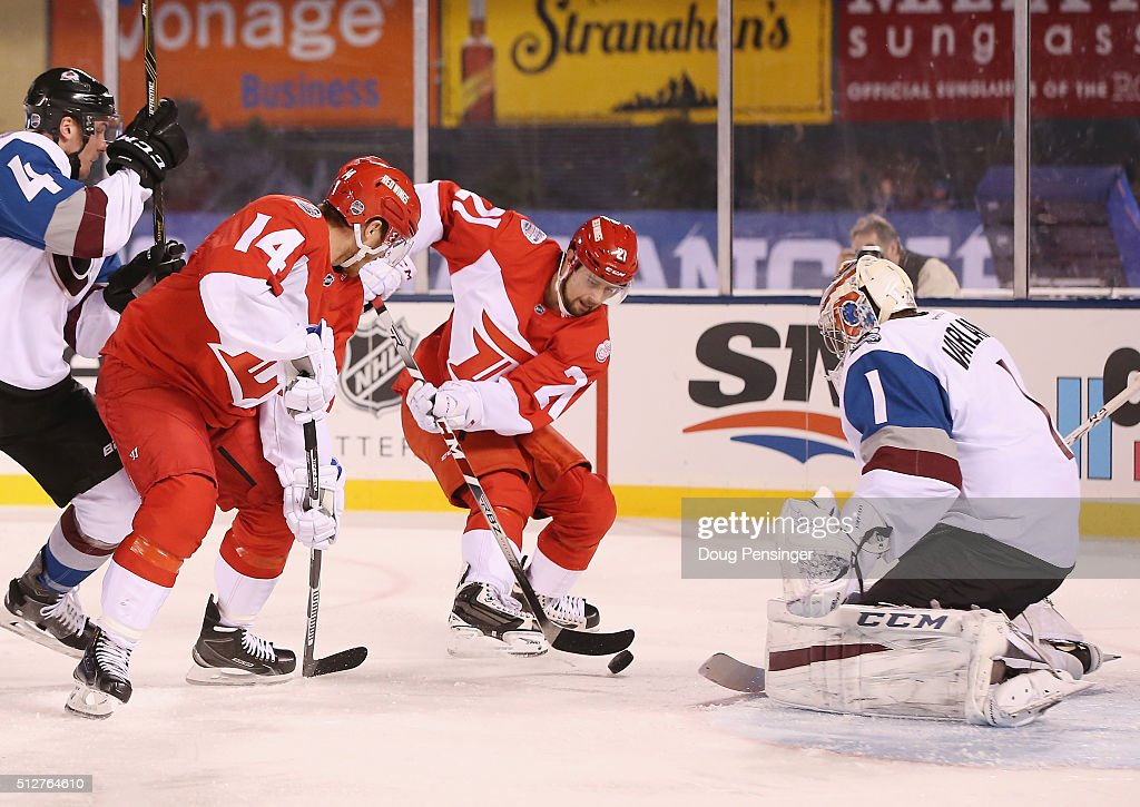2016 Coors Light Stadium Series - Detroit Red Wings v Colorado Avalanche : News Photo