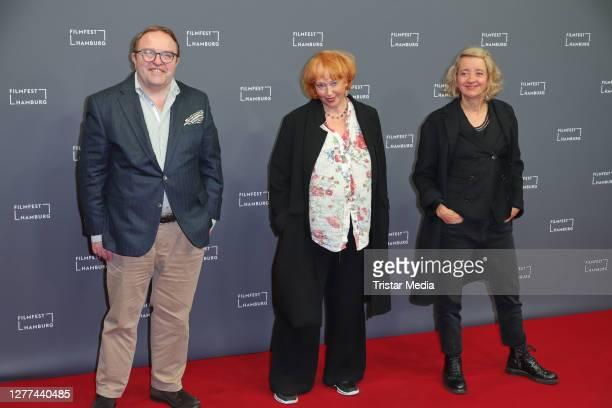 "Gustav Peter Woehler, Ilse Ritter and Anna Boettcher attend the ""u201eCortex""u201c premiere during Hamburg film festival on September 25, 2020 in..."