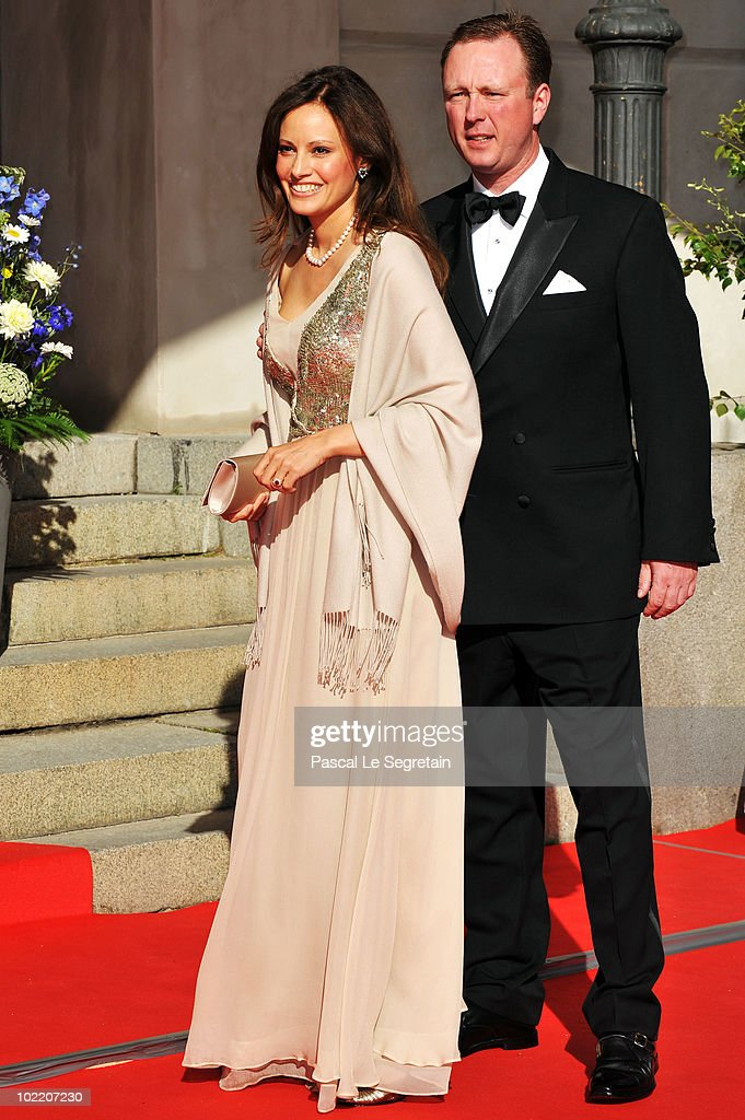 Gustav Prince of Sayn-Wittgenstein-Berleburg and Carina Axelsson attend the Government Pre-Wedding Dinner for Crown Princess Victoria of Sweden and Daniel Westling at The Eric Ericson Hall on June 18, 2010 in Stockholm, Sweden.