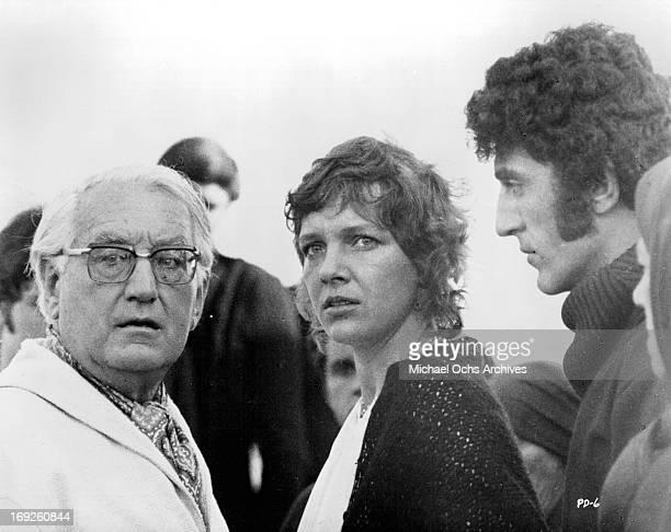 Gustav Rudolf Sellner and Gila Von Weitershausen in a scene from the film 'The Pedestrian', 1973.