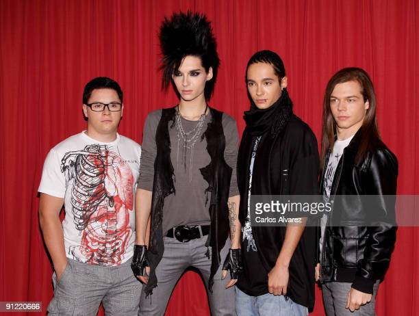 Gustav Schafer Tom Kaulitz Bill Kaulitz and Georg Listing of Tokio Hotel present their new album Automatic at Hotel Palace on September 28 2009 in...