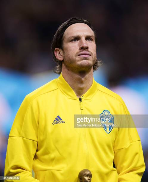 Gustav Svensson of Sweden ahead of the International Friendly match between Sweden and Chile at Friends arena on March 24 2018 in Solna Sweden