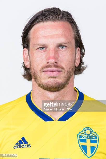 Gustav Svensson of Sweden poses during the official FIFA World Cup 2018 portrait session on June 13 2018 in Gelendzhik Russia