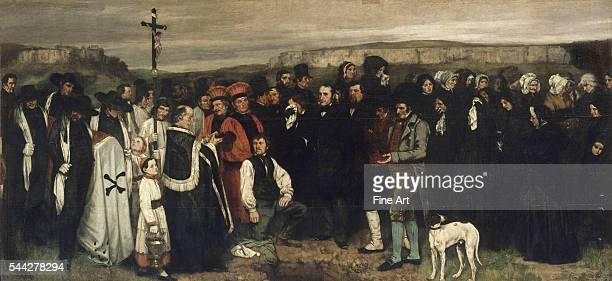 Gustave Courbet , A Burial at Ornans, oil on canvas, 1849-50, 315 x 668 cm , Musee d'Orsay, Paris.