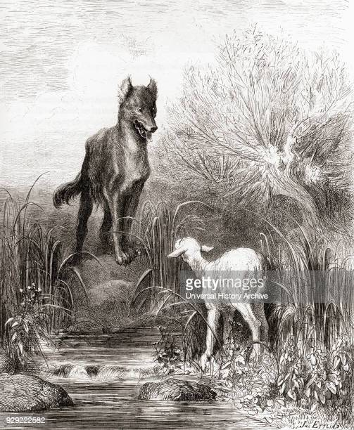 Gustave Doré's illustration of La Fontaine's fable The Wolf and the Lamb From a late 19th century edition of Fables de La Fontaine
