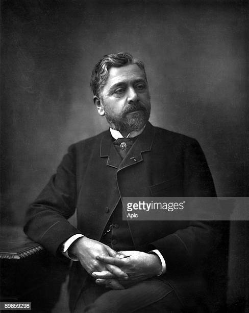 Gustave Eiffel french engineers builder of the Eiffel Tower cliche Pirou extracted Book Gallery francaises contemporary illustrations by Paul Lacroix...