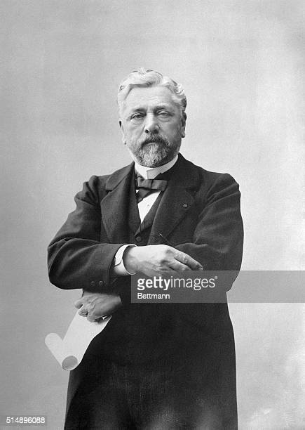 Gustave Eiffel Photograph taken at the time of the completion of the Eiffel Tower 1889