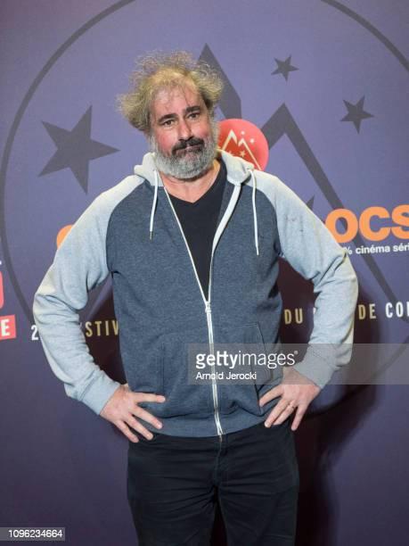 Gustave Kervern attends 'Nicky Larson et le parfum de Cupidon' premiere during the 22nd L'Alpe D'Huez International Comedy Film Festival on January...