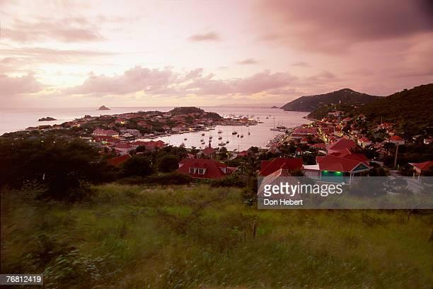 Gustavia Harbor from hillside