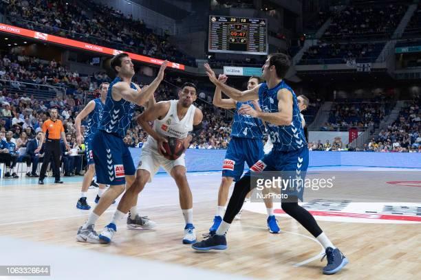 Gustavo Alfonso Ayn of Real Madrid during their Liga ACB Endesa basketball Real Madrid VS Gipuzkoa Basket match at the Sports palace of Madrid,...