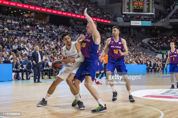 Gustavo Ayón during FC Barcelona Lassa victory over Real Madrid in Liga Endesa regular season game celebrated in Madrid at Wizink Center March 24th...