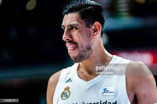 Gustavo Ayon #14 center of Real Madrid during Liga ACB match between Real Madrid and Valencia at WiZink Center on May 21 2019 in Madrid Spain