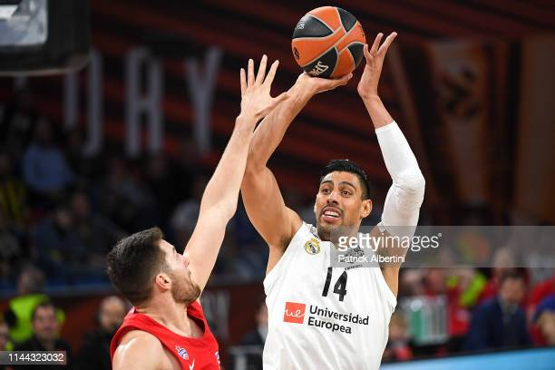 Gustavo Ayon #14 of Real Madrid in action during 2019 Turkish Airlines EuroLeague Final Four Semifinal B game between Semifinal B CSKA Moscow v Real...