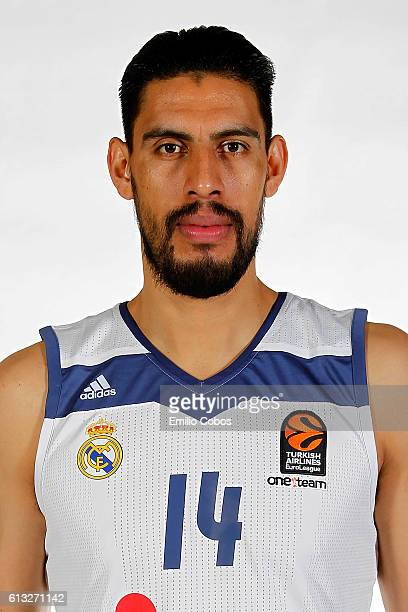 Gustavo Ayon #14 of Real Madrid poses during the 2016/2017 Turkish Airlines EuroLeague Media Day at Barclaycard Center on October 04 2016 in Madrid...