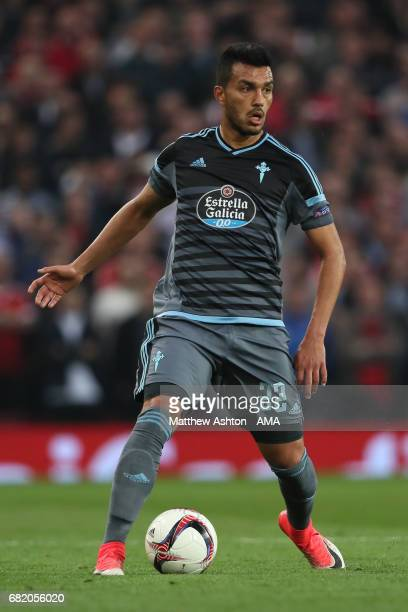 Gustavo Cabral of Celta Vigo in action during the UEFA Europa League semi final second leg match between Manchester United and Celta Vigo at Old...