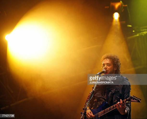 Gustavo Cerati of Argentina's rock band Soda Stereo performs during the first concert of 2007 Me Veras volver Tour at the Monumental stadium in...