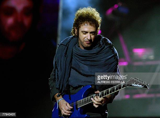 Gustavo Cerati of Argentina's rock group Soda Stereo performs during their 2007 Tour 'Me Veras Volver' concert at the Foro Sol in Mexico City 15...
