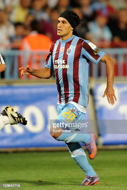 Gustavo Colman of Trabzonspor AS during the Spor Toto Super League match between Trabzonspor AS and Fenerbahce SK held at the Avni Aker Stadium on...