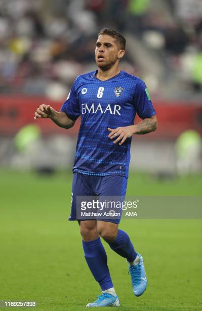 Gustavo Cuellar of Al Hilal during the FIFA Club World Cup Qatar 2019 Semi Final match between CR Flamengo and Al Hilal FC at Khalifa International...