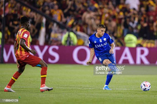 Gustavo Cuellar of Al Hilal passes the ball during the FIFA Club World Cup 2nd round match between Al Hilal and Esperance Sportive de Tunis at Jassim...