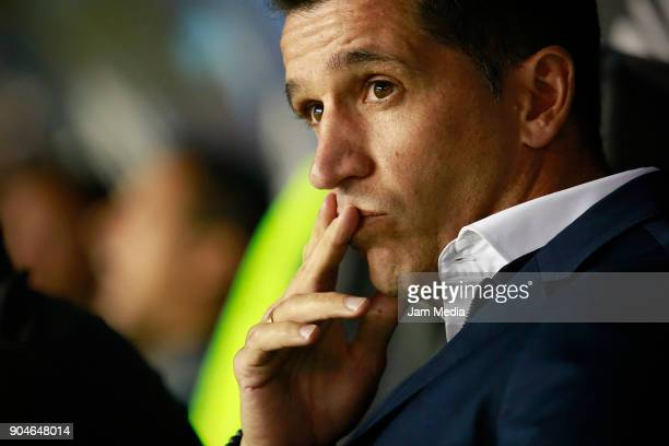 Gustavo Diaz coach of Leon looks on during the second round match between Leon and Toluca as part of the Torneo Clausura 2018 Liga MX at Leon Stadium...