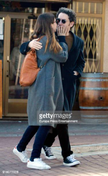 Gustavo Dudamel Maria Valverde are seen on January 4 2018 in Madrid Spain
