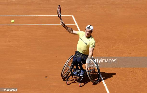 Gustavo Fernandez in action during the Internazionali d'Italia BNL final at Uniqlo Wheelchair tennis tour played at Foro Italico in Rome Italy on May...