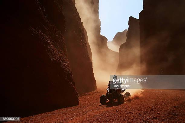 Gustavo Gallego of Argentina and Yamaha rides a Raptor 700 Yamaha quad bike in the Classe 4 x 2 0 a 750 cm3 during stage three of the 2017 Dakar...