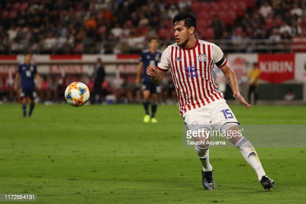 Gustavo Gomez of Paraguay in action during the international friendly match between Japan and Paraguay at Kashima Soccer Stadium on September 05,...