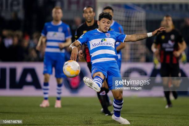 Gustavo Hamer of PEC Zwolle during the Dutch Eredivisie match between PEC Zwolle v Excelsior at the MAC3PARK Stadium on October 6, 2018 in Zwolle...