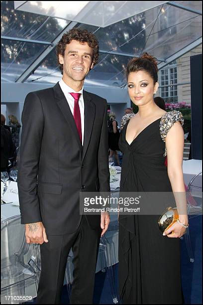 Gustavo Kuerten Aishwarya Rai at Charity Dinner Sponsored By Longines Elegance Is An Attitude In Benefit Of Foundation Agassi At Museum Rodin In Paris