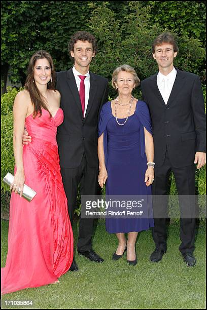 Gustavo Kuerten between companion Mariana Censini his mother Alice and his brother Rafael at Charity Dinner Sponsored By Longines Elegance Is An...