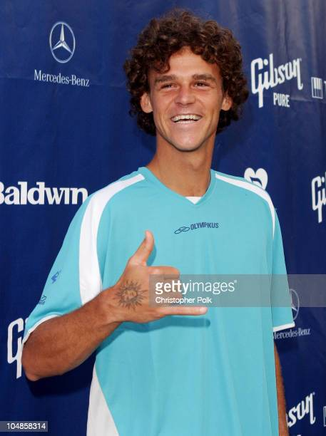 "Gustavo Kuerten during Gibson-Baldwin ""Night at the Net"" at UCLA in Westwood, CA, United States."