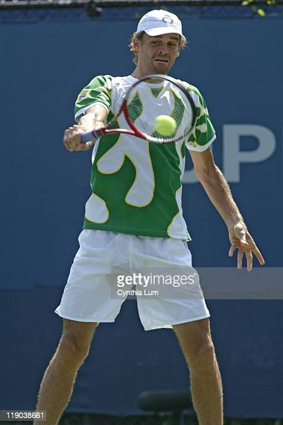 Gustavo Kuerten during his match against Tommy Robredo in the second round of the 2005 US Open at the USTA National Tennis Center in Flushing, New...