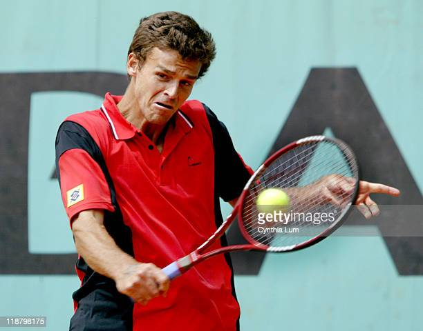 Gustavo Kuerten in action at the 2004 French Open men's second round at Roland Garros in Paris, France on Thursday, May 27, 2004. Kuerten defeated...