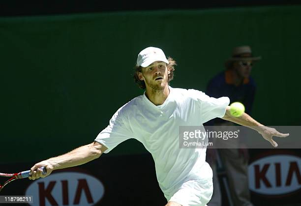 Gustavo Kuerten of Brazil defeats John van Lottum of the Netherlands, 5-7 6-0 6-1 2-6 8-6.