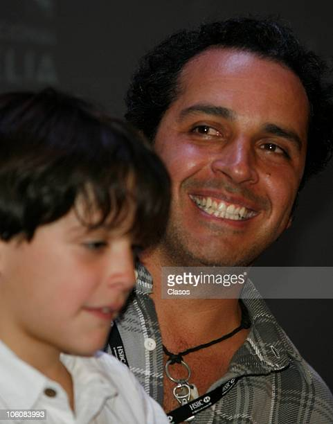 Gustavo Loza of the movie La Otra Familia, during a press conference as part of the 8th Morelia International Film Festival on October 23, 2010 in...